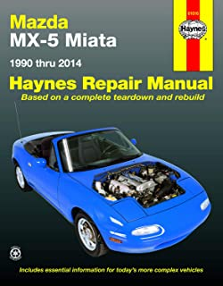 Mazda MX-5 Miata (90-14) Haynes Repair Manual (Does not include information specific to turbocharged models. Includes thorough vehicle coverage apart from the specific exclusion noted)