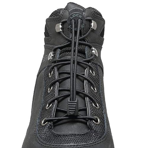 2eb66c75d73 LOCK LACES for Boots (1 Pair) Premium Heavy Duty Elastic No Tie Boot Laces
