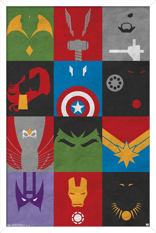 Price reduction Trends International Marvel Challenge the lowest price Comics Minimalist - Avengers Grid