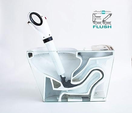 EZ Flush EZ168528 - Llave para Inodoro, Tina y Ducha, lavabos, presión de Aire, Calidad Profesional, con Clavija y Grasa, Color Blanco