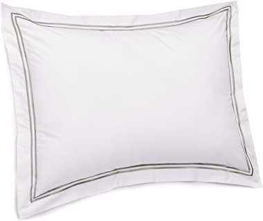 Pinzon 400-Thread-Count Egyptian Cotton Sateen Hotel Stitch Sham - Standard, Silver Grey