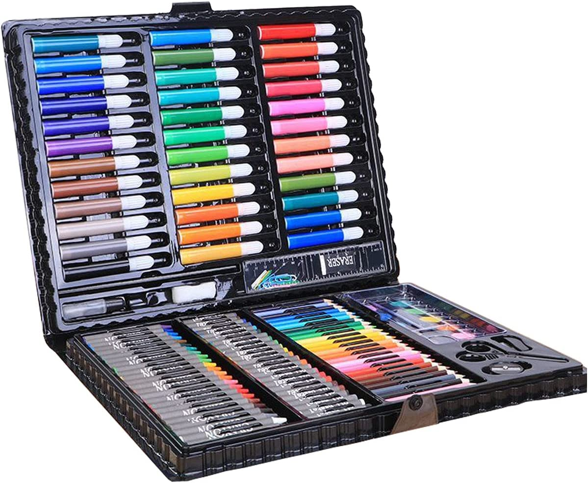 150 Pack Art Set Deluxe Supplies Painting Craf Omaha sale Mall Coloring