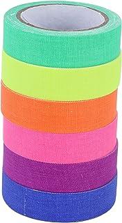 Ruban Adhésif 6 Pièces, 6 Couleurs Fluorescentes UV Coton Tissu Bande Scène Performance Accessoire Surface Mate