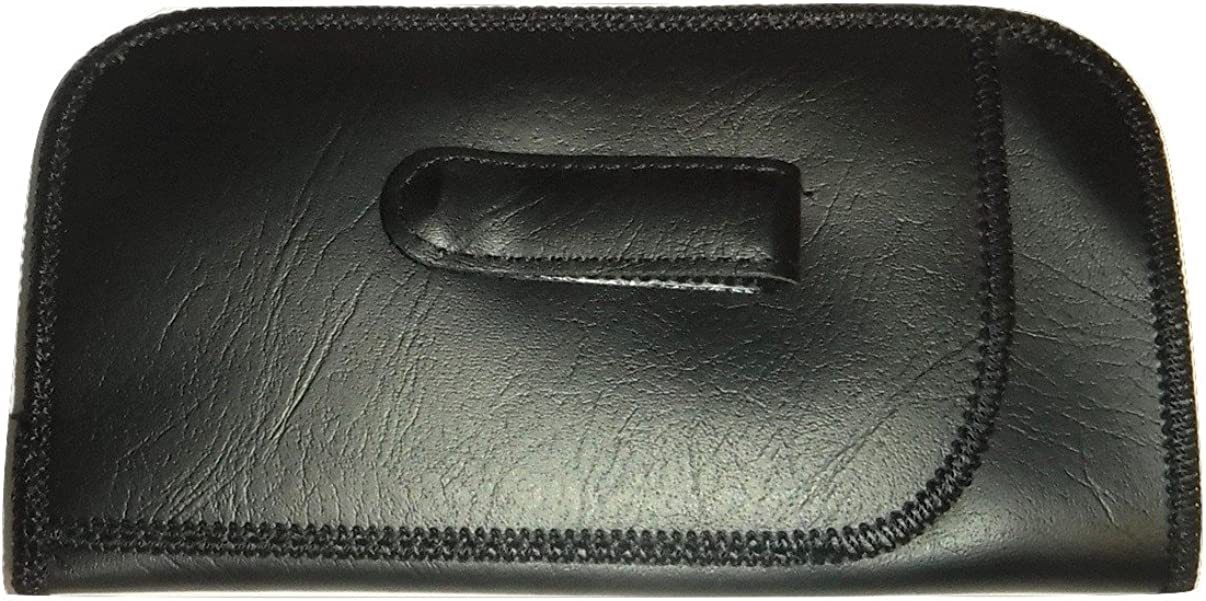 Pocket Clip Eyeglass case with Pouch (black) Vintage Style case !