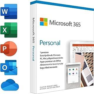 Microsoft 365 Personal | Suscripción anual | Para 1 PC o Mac, 1 tableta incluyendo iPad, Android, o Windows, además de 1 t...