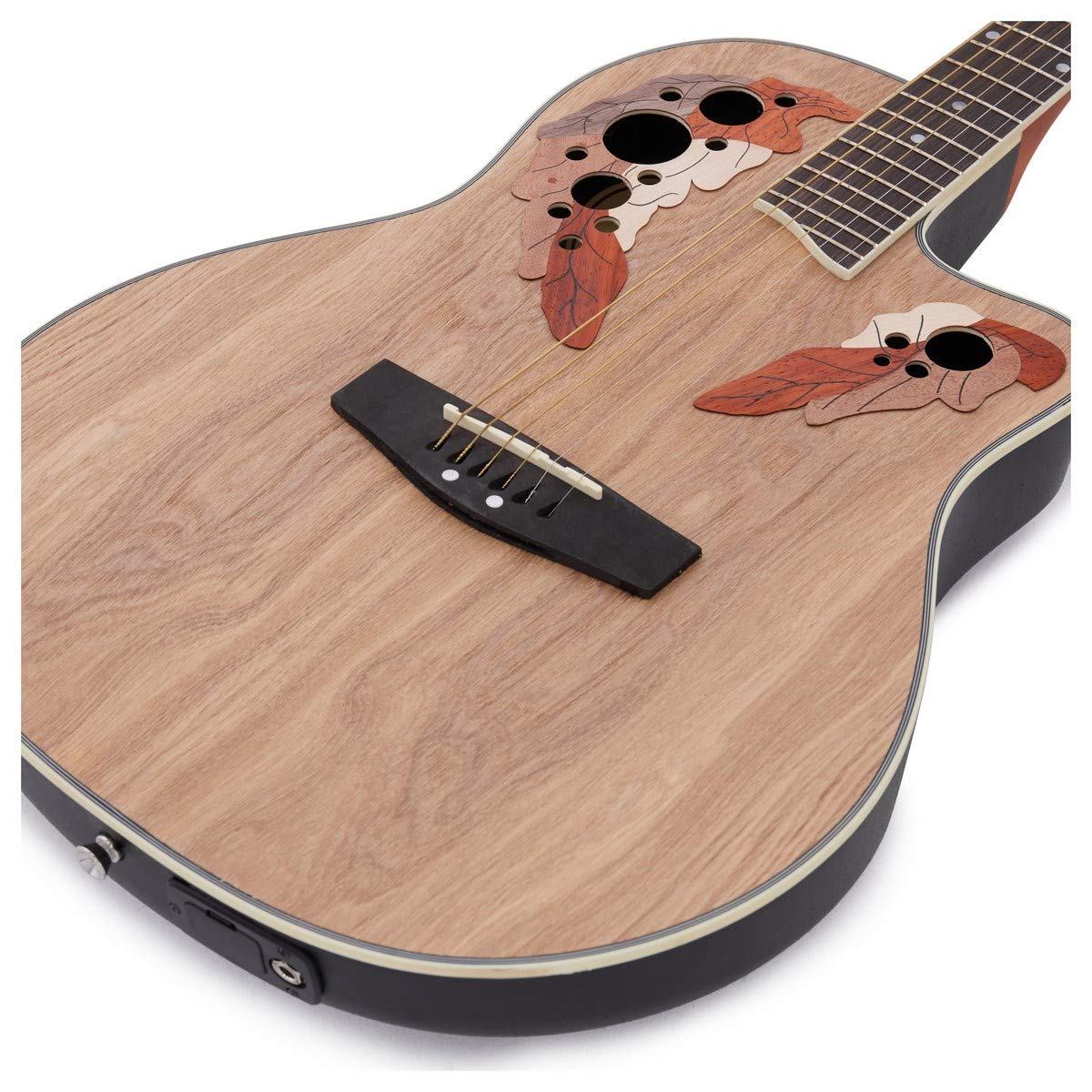 Guitarra Electroacustica Deluxe Roundback de Gear4music Natural ...
