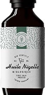 Huile de Nigelle BIO Pressée à froid, Pure, Cumin noir - 100% Naturelle, cultivée en Égypte et embouteillée en France - Qu...