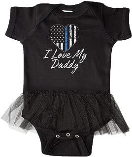 inktastic Police Officer Daddy Law Enforcement Infant Tutu Bodysuit