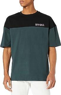 Urban Classics herr Oversized Color Block Logo Tee T-tröja