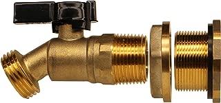 RAINPAL Brass Rain Barrel Quarter Turn Ball Valve Spigot with Bulkhead Fitting