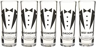 groomsmen shot glasses set