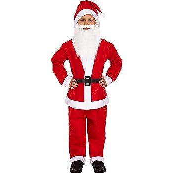 Kids Bambino Costume Elfo Bambino Natale Costume Ragazzi Bambina Outfit Età 2-3