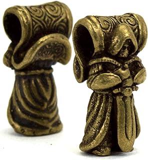 oleksandr.victory Bead Bronze Paracord Leather Lanyard Beads Hand-CAST Metal