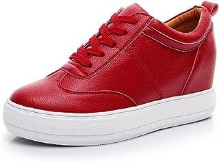 Jamron Women Comfort Soft Microfiber Leather Hidden Wedge Heel Sneakers