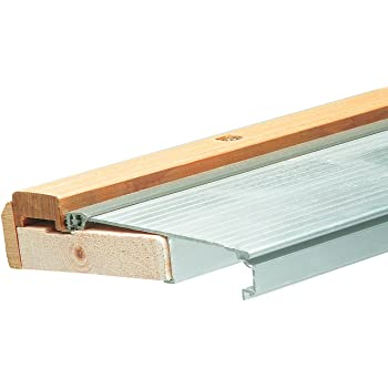 "Aluminum 73/"" Outswing Adjustable Oak Top Threshold"