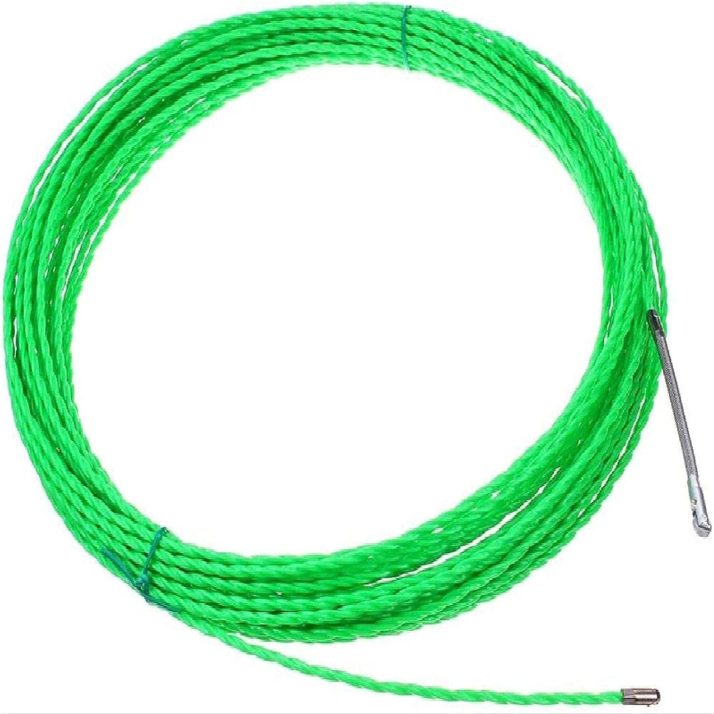 Extractor Cables 5/10/15/20/25/30/50M 4Mm Extractor Cables Cable Eléctrico Fibra Vidrio Tirador Cables Cinta Eléctrica Dispositivo Guía Cables Herramienta Ayuda 30M
