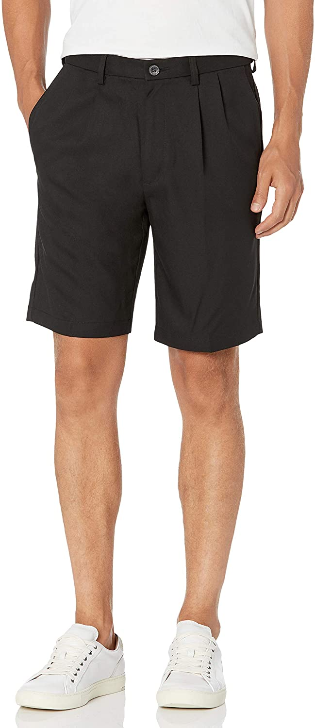 Haggar Men's Cool 18 Pro Straight 4-Way Pleat Stretch Front Ranking TOP13 Fit Inexpensive