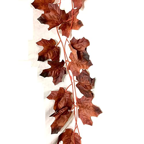 SPHINX Artificial Maple Leaves Garlands/Creepers for Decoration -no. of Strands- (4)