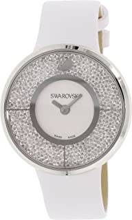 ساعة كوارتز انالوج للنساء مرصعة بأحجار سواروفسكي مع سوار جلدي طراز 1135989