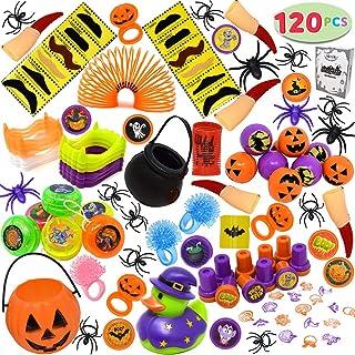 JOYIN 120 Pieces Halloween Toys Assortment for Halloween Party Favors, School Classroom Rewards, Trick or Treating, Hallow...