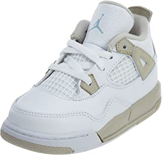 7ab020b79bff97 NIKE JORDAN TODDLER JORDAN 4 RETRO GT SHOES WHITE BOARDER BLUE LIGHT SAND  SIZE 10