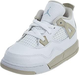 Jordan Nike Toddlers 4 Retro Gt White/Boarder Blue/Light Sand Basketball Shoe 8 Infants US