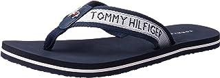Tommy Hilfiger Womens Lurex Detail Thong Slipper, Color Desert Sky, Size 37 EU