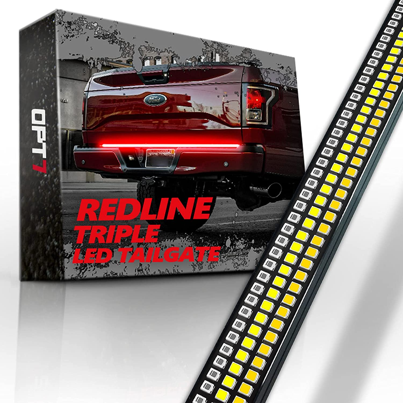 """OPT7 60"""" Redline Triple LED Tailgate Light Bar"""