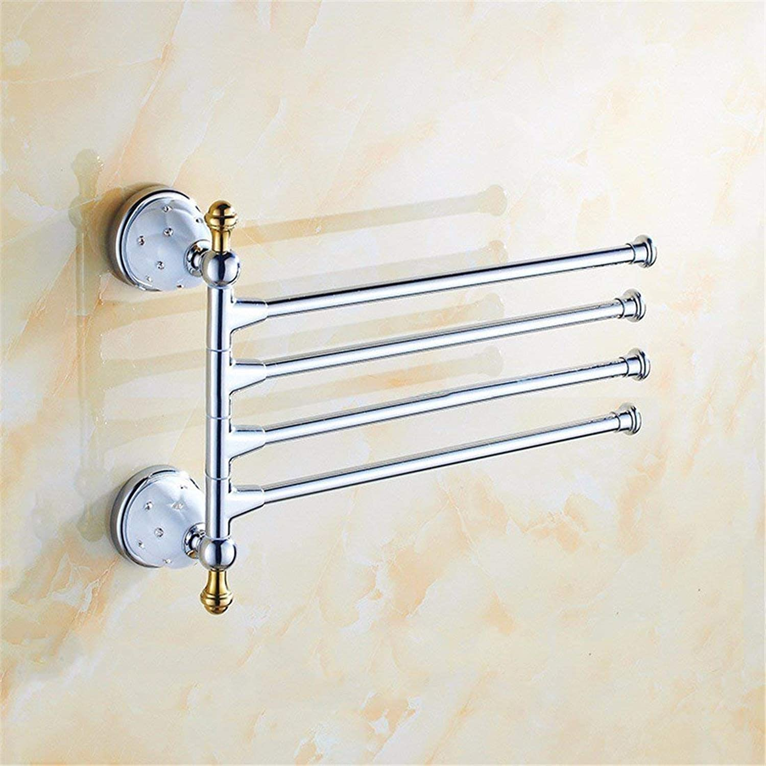 Accessories of European-Style Bathroom Former of Christmas in Diamond Necklace Silver Chrome Stainless Steel Set Bathroom Door Soap Toothbrush, 4 Bar
