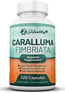 Pure Caralluma Fimbriata Extract 1200mg (120 Capsules) - Weight Loss Management Supplement & Keto Diet Pills, Natural Appetite Suppressant Support for Women & Men (1 Bottle)