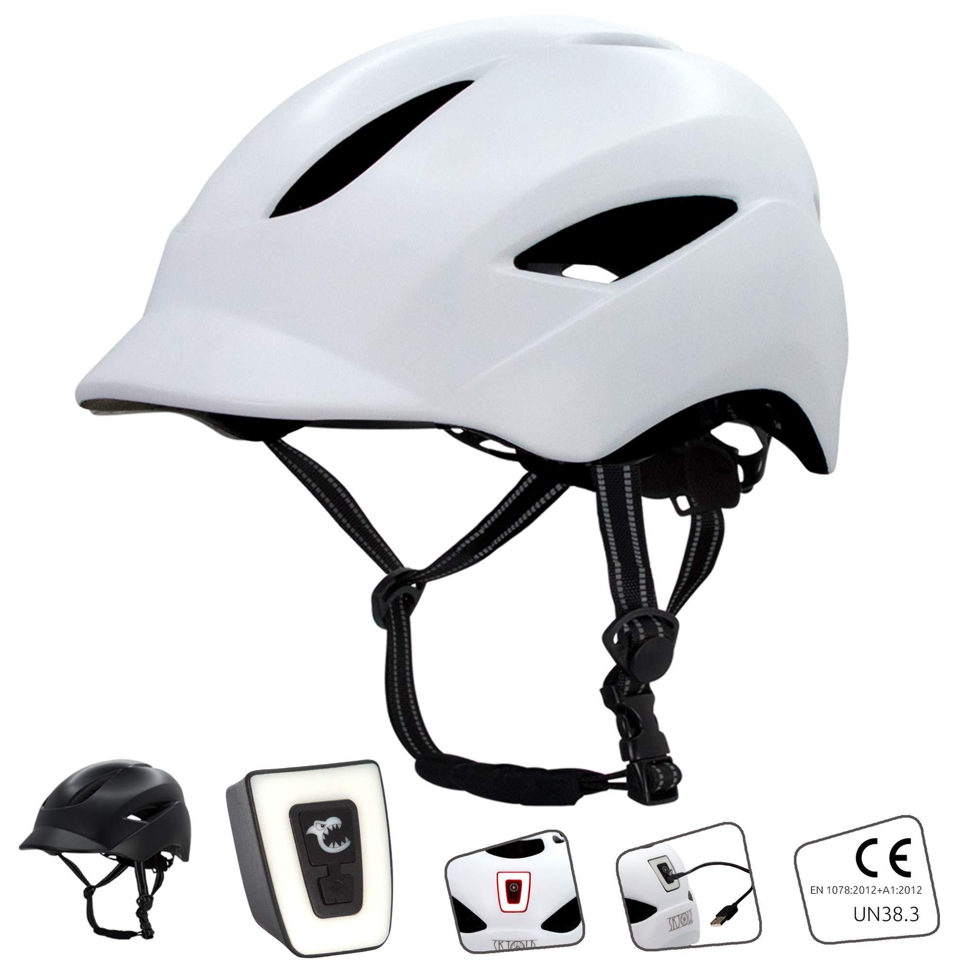 Crazy Safety Casco de Bici para Hombres, Mujeres, niños y niñas | Casco de Bicicleta con