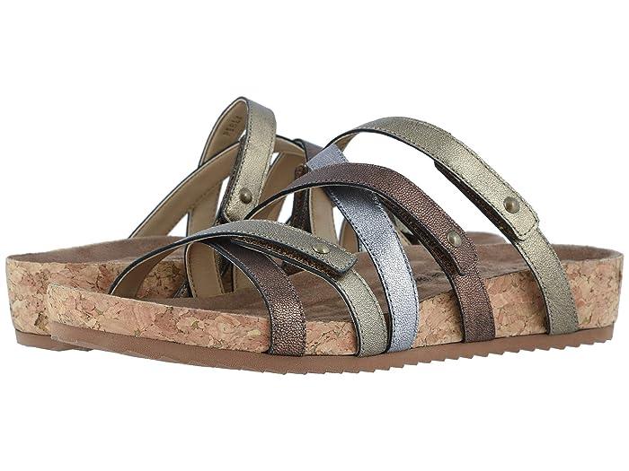 Walking Cradles  Perla (Metallic Multi Leather/Cork Wrap) Womens  Shoes