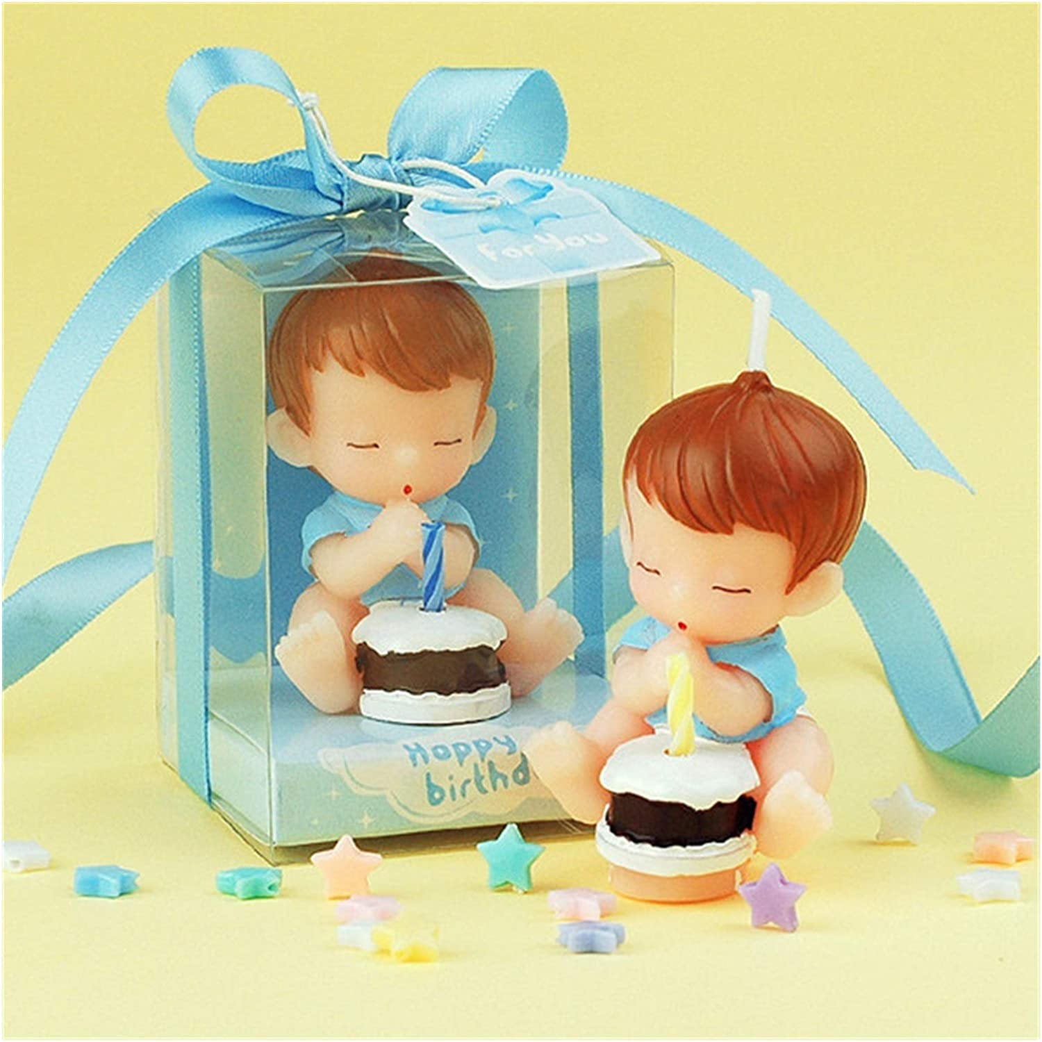 JINYAWEI excellence Scented Candles Candle Cute Pink Pray Boy Bombing free shipping Baby Bir Girl