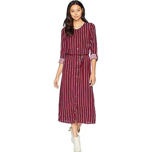 8a216a42370ad Juicy Couture Women's Cindy Stripe Midi Shirtdress