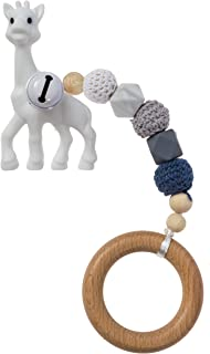 Giraffe Baby Teething Toys | Natural & Food-Grade BPA-Free Silicone | Soothing Textured Teether | Crib and Stroller Toy | Freezer Safe | Adorable Chew Toys for Newborn, Infant, Toddler, Boy, Girl