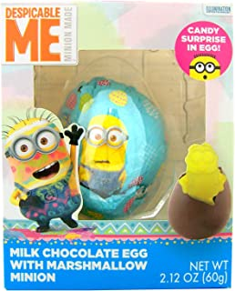 Despicable Me Minion Chocolate Egg with Marshmallow