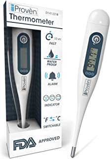 Best Baby Thermometer for Fever with Very Tiny Tip - Digital Thermometer for Fever - Rectal Thermometer for Babies Especially - Oral Thermometer for Kids and Adults -DT-R1221B with Fever Indicator