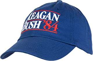 Reagan Bush '84 | Vintage Style Conservative Republican GOP Baseball Cap Dad Hat Royal Blue