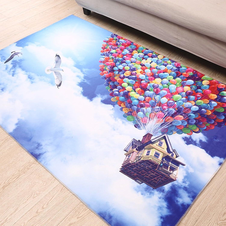 Beautiful Anti-Slip Mats Blanket for Bedroom Doormat Indoor Mats Foot Pad Doormats Hall,Household Mats-D 140x200cm(55x79inch)