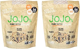 JOJO's Guilt Free Peanut Butter Delight Dark Chocolate | 14 Bars | Keto, Vegan and Paleo Friendly, Non GMO Gluten Free Healthy Snacks, Low Sugar Chocolate with Plant Based Protein | 2 8.4oz Bags
