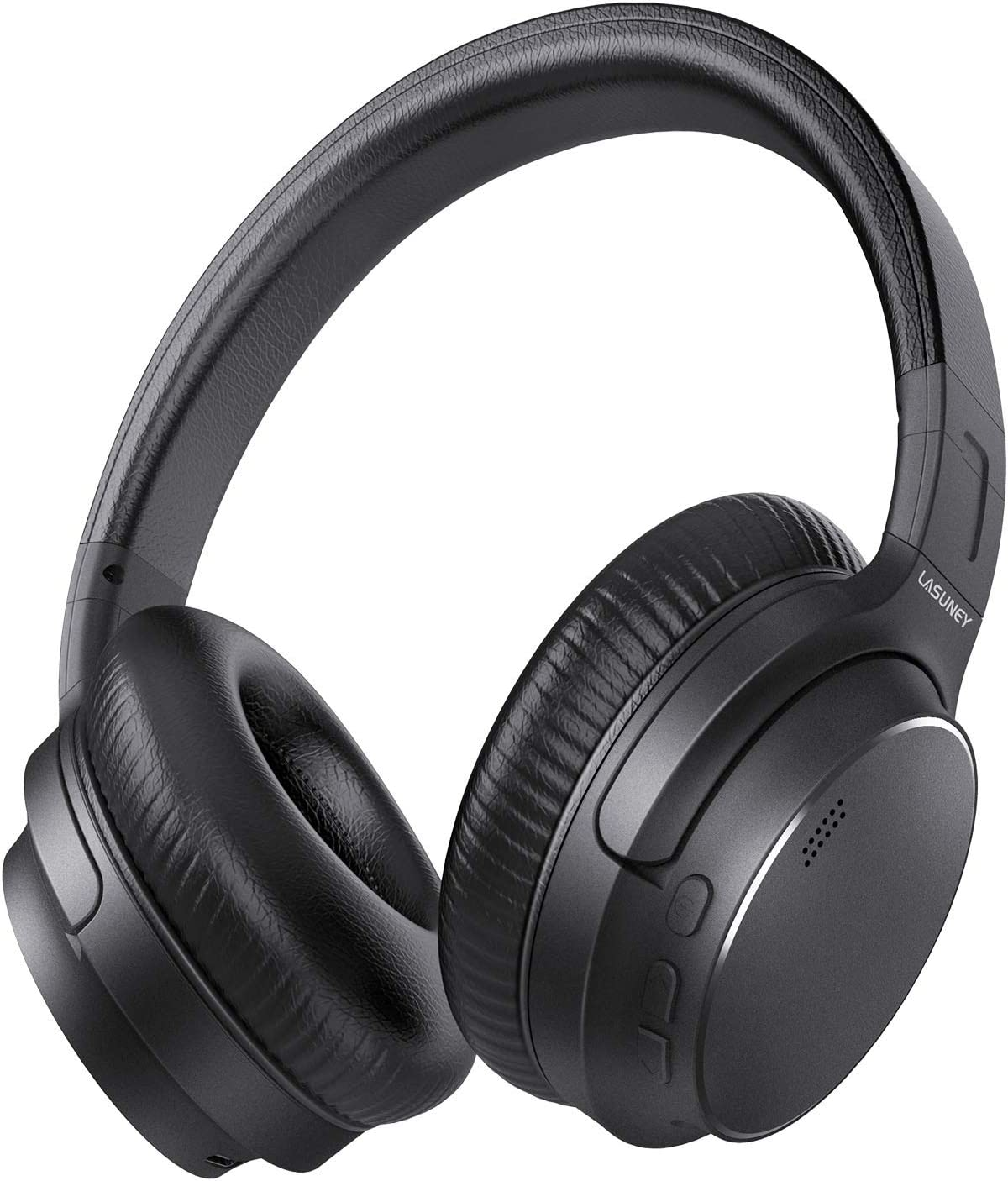 Lasuney S8 Hybrid Active Noise Cancelling Headphones APT-X CVC8.0 48H Music Playtime HiFi Audio Sound Wireless Bluetooth Headphones with Microphone Type-c Fast Charging Over Ear Headset, Black