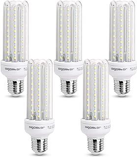 comprar comparacion Aigostar - Bombilla LED B5 T3 4U, E27,15W, Ángulo 360°, Luz Blanca Fría 6400K, 1200 lúmenes, no regulable -Pack de 5