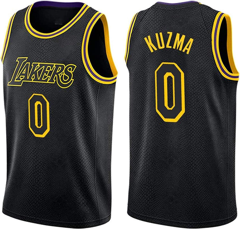 YPKL Kuzma #0 Boston Mall Lakers Black Commemorative Edition New York Mall Mamba Basketbal