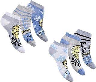 Palleon, Calcetines deportivos para niña, 6 pares de calcetines de Frozen de La reina de hielo