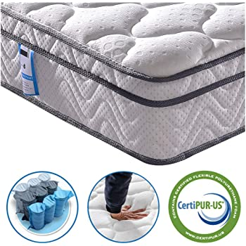 Vesgantti 3FT Single Mattress, 10.3 Inch Pocket Sprung Mattress Single with Breathable Foam and Individually Wrapped Spring - Medium Firm Feel, Classic Box Top Collection