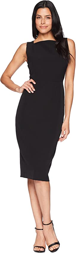 Dream Crepe Square Neck Sheath with Two-Way Back Zipper