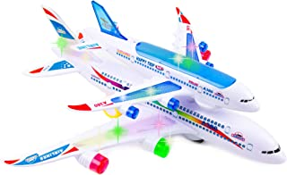 Toytykes Double Decker Airplane - Comes with 3D Lights - Bump and Go Action - Ultimate Fun for Kids - Realistic Jet Engine Sounds - Requires 3