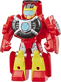 Transformers Playskool Heroes Rescue Bots Academy Hot Shot Converting Toy Robot, 4.5