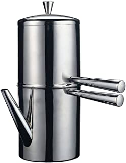 Ilsa Stainless Steel Neapolitan Drip Coffee Maker with Spout, 3 Cup