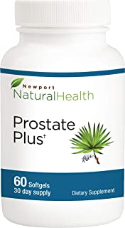 Saw Palmetto Prostate Supplement for Prostate Health - More Than 40 Clinical Studies Support Our Best Prostate Supplements for Men   Prostate Plus by Newport Natural Health   60 Softgels 30-Day Supp